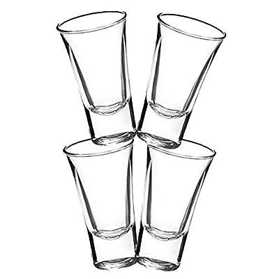 Gmark 2-Oz Shot Glass Set Heavy Base, Whiskey Shot Glasses 4-Pack, Perfect for Wine Tasting, Tequila, Shooter, Cocktail Pourer, Jigger, GM2026A