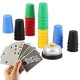 deAO Copas Locas Juego de Vasos para Apilar con Rapidez Agilidad y Destreza Juego de Mesa para la...
