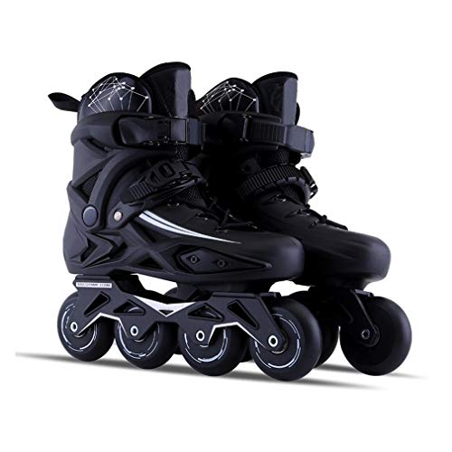 Sljj Outdoor Adult Black Professional Roller Inline Skates, Comfortable Freestyle Racing Skates for Women and Youth (Color : Black, Size : 42 EU/9 US/8 UK/26cm JP)