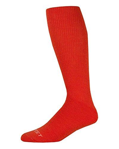 Pro Feet Unisex Multisport-Socken, gepolstert, aus Acryl, Braun, Größe 43-46 Small neon-orange