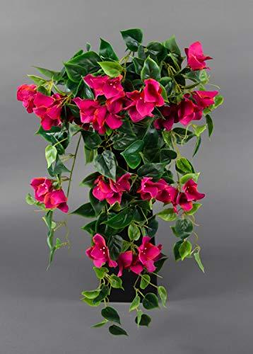 Seidenblumen Roß Bougainvillearanke 65cm Fuchsia-pink ZF künstliche Bougainvillea Ranke Blumen Pflanzen Kunstpflanzen