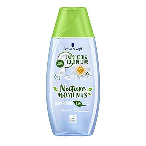 Nature Moments - Shampooing Hydratation Coco&Lotus - Cheveux normaux à secs - 250ml