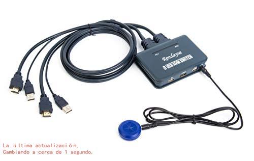 Interruptor HD KVM Conmutador HDMI de 2 puertos El teclado con mouse USB multi-computadora cambia automáticamente a 2 en un soporte: Para Win98 / ME / 2KP4 / XP / 2003, Linux (Modelos de botones)