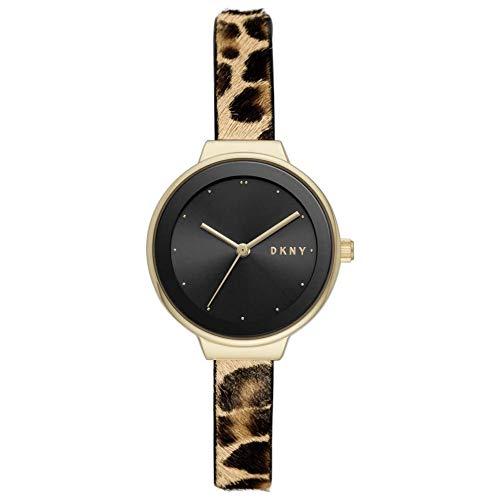 DKNY Damen-Chronograph Kunststoff One Size Leder 87756378