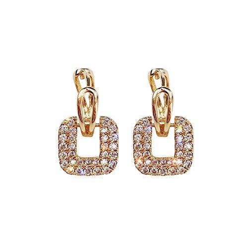 Pendientes Mujer Crystal Earrings Geometric Design Earrings Women Party Jewelry