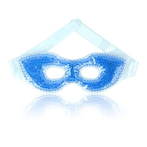 Augenmaske Kühlend Kühlmaske Gel Kühlpads für Migräne, Die Augen, Trockene Augen und Kopfweh - Blau