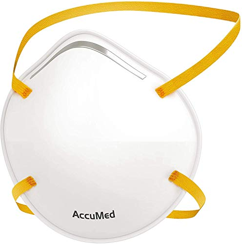 AccuMed Face Mask (Headband), Cup Style Mask, (20 Count)