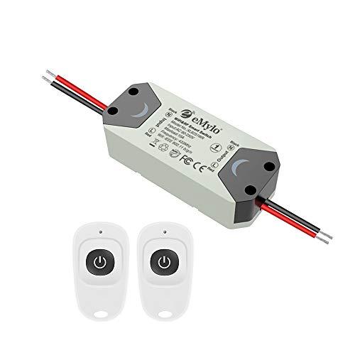 eMylo Smart WiFi Interruptor de luz RF Módulo de relé de control remoto inalámbrico 220V 1 canal Temporizador Aparato doméstico 433Mhz Soporte Alexa/Google Home Assistant por teléfono
