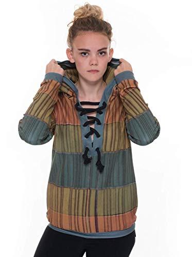 RobeCode Designer Damen Pullover Bricks - Hoodie Sweater Winterpullover Kapuzenpullover