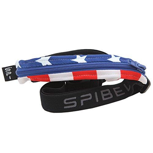 Spibelt S Original pour Prints with Blue Zipper Sac de Course, Stars et Stripes, XL