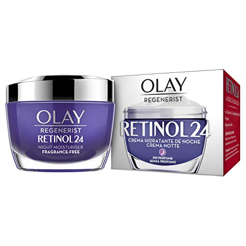 Olay Regenerist Retinol24 Crema Hidratante de Noche sin Fragancia para una Piel Suave y Radiante con Retinol y Vitamina B3, 50 ml