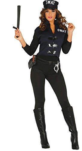 Guirca- Disfraz adulta policía, Talla 38-44 (84357.0)