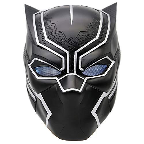 BIRDEU Máscara de Halloween Hero Deluxe, de resina, LED, Negro, Casco, para hombre, Cosplay, Disfraz, para adultos, ropa, fiesta
