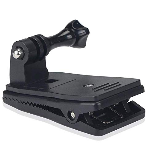 Eyeon 360 Grado Rotatorio Mochila Clip Grip Arm Soporte Rápido Pinza de Montaje para GoPro Hero 2018 7 6 5 4 / Session, Xiaomi YI, SJCAM, AKASO, Campark, Apeman, Crosstour, Victure Action Camera