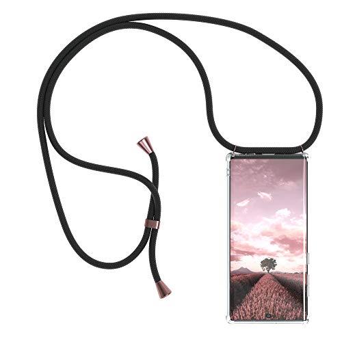 EAZY CASE Handykette kompatibel mit Samsung Galaxy Note 10 Handyhülle mit Umhängeband, Handykordel mit Schutzhülle, Silikonhülle mit Band, Stylische Kette mit Hülle für Smartphone, Clips in Rose