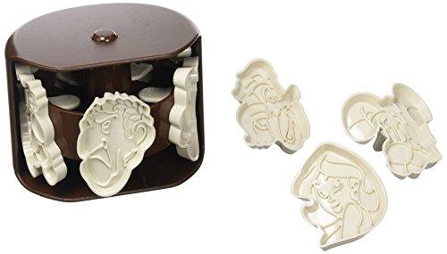 Tools by Aubecq 500306 Emporte pièces Asterix Plastique, Marron Foncé, 9,5x9,5x7 cm