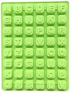 Molde de 48 letras alfabeto repostería hielo gelatina de molde molde de chocolate Mousse molde de caramelo silicona forma específica