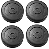 Qnbes Round Rubber Arm Pads Fit for BendPak Lift & Dannmar Lift, HD Slip Pad Compatible with 5715017, Set of 4 - Black