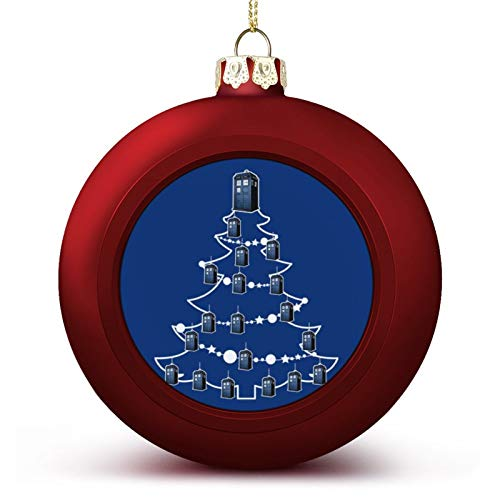 VNFDAS Tardis Dcotor Who Christmas Tree Baubles Custom Christmas ball ornaments Beautifully decorated Christmas ball gadgets Perfect hanging ball for holiday wedding party decoration