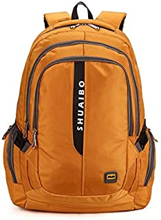 YXHM AU Men's Backpack Casual Computer Bag Primary and Secondary Schoolbags Sports Travel Backpack (Color : Gold)