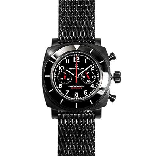 Tempore Lux V One Chronograph 03 PVD Black - Milanese Bracelet + Free...
