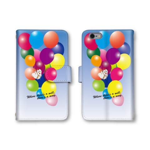 Qua phone QX KYV42 スマホケース 手帳型 バルーン 風船 ニワトリ 1番 スマホカバー かわいい おしゃれ 携帯カバー KYV42 ケース 携帯ケース キュアフォン QX