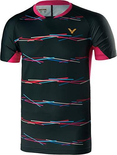 Victor Shirt Games - Camiseta de bádminton, Unisex Adulto, Color Negro, tamaño Large