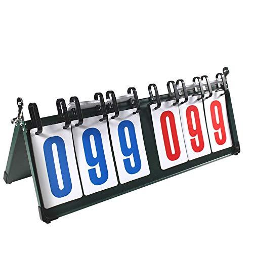 Marcador Deportivo Tabla de puntuación de baloncesto de mesa multifunción de 6 dígitos Marcador de tenis Marcador de tabla de puntuación de competición deportiva de 6 dígitos Marcador for bádminton de