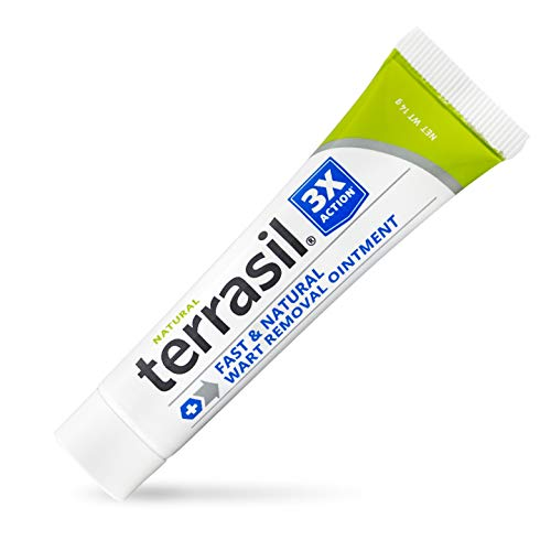 Wart Remover - Safe for Sensitive Skin Natural Pain Free Salicylic Acid Free Patented Treatment for Plantar Genital Facial Warts by Terrasil (14gm)