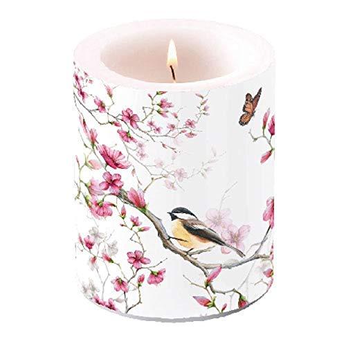 Ambiente Laternenkerze bird & blossom H12cm, D10cm