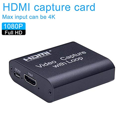 HDMI-Aufnahme, HDMI zu USB 3.0, Full HD 1080P Live-Videoaufnahme-Aufnahmebox, HDMI USB 3.0-Adapter Video- und Audio-Grabber für Windows, Mac OS und Linus System