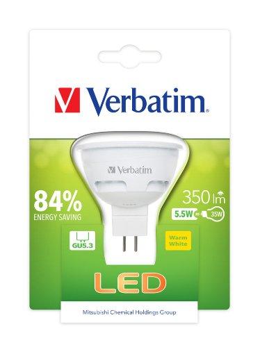 Verbatim LED Bulb, Glas, GU5.3, 5.5 W, White, 1-er Pack