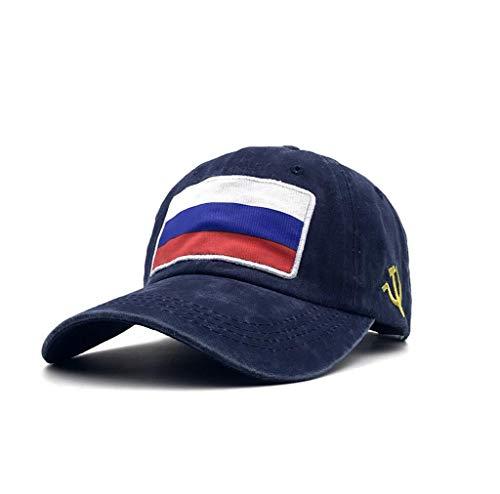 XibeiTrade Gorra de béisbol de la bandera de Rusia RU bordada estilo polo militar lavado algodón sombrero