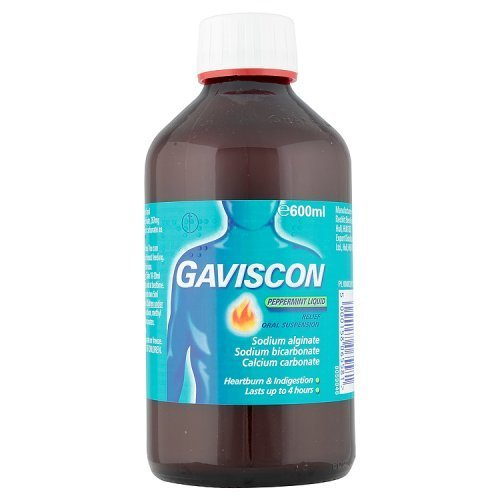 Gaviscon Peppermint Liquid Relief Oral Suspension for Heartburn Relief and Indigestion, 600 ml(Packaging may Vary)