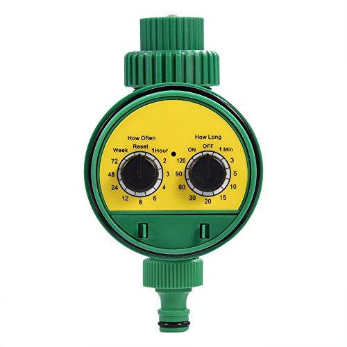 lyrlody - Temporizador de riego, Programador electrónico multifunción Digital de Dos vías con riego automático con Sistema de riego para riego de jardín