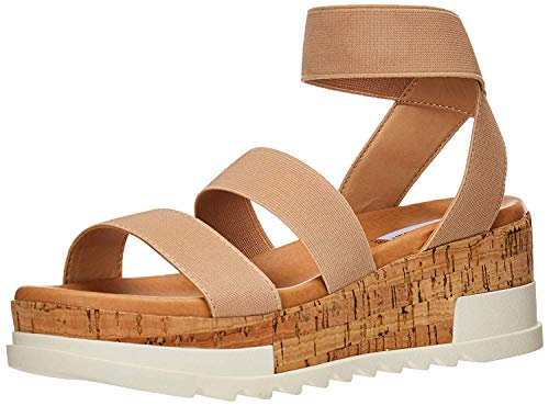 Steve Madden Bandi Wedge Sandal Blush 8 M