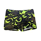 Women Ladies Summer Shorts Stylish Camouflage Athletic Workout Sports Gym Short Pants with Pocket (XL, Yellow)