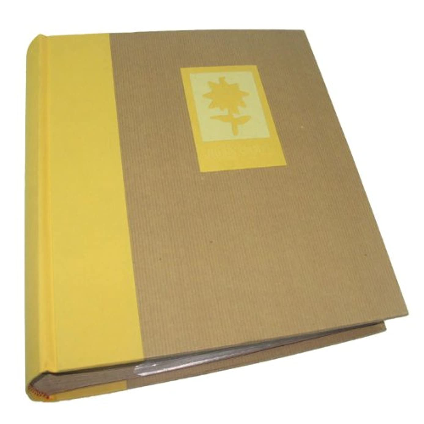 Dorr Green Earth Yellow Flower 7x5 Slip In Photo Album for 200 Photos [840320YFLOW]
