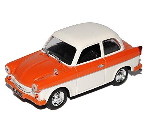 alles-meine.de GmbH Trabant P50 500 Limousine Rot Orange Weiss 1/43 Modellcarsonline Modell Auto mit individiuellem Wunschkennzeichen