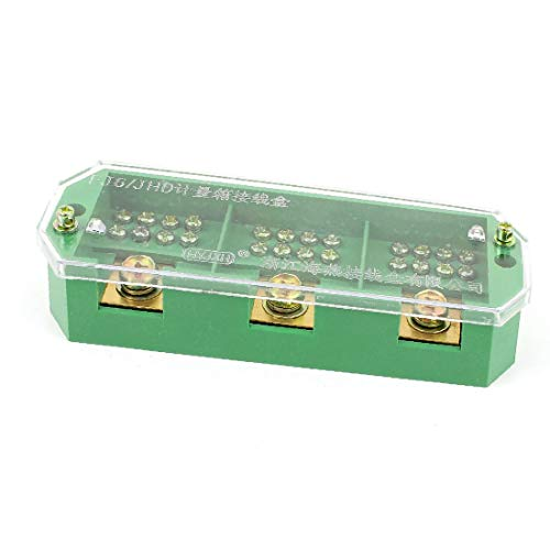 X-DREE FJ6/JHD-2/H 3 Phase 12 Electricity Meter Power Cable Distribution Block(FJ6 / JHD-2 / H 3 fase 12 blocco di distribuzione del cavo di alimentazione contatore elettrico