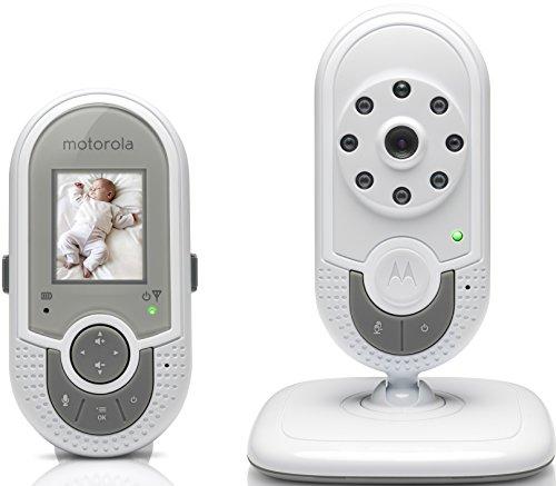 Motorola MBP621 - Vigilabebés vídeo con pantalla a color de 1.8', color blanco