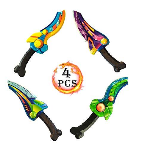 Riviax - Espadas de Juguete para Niños 31cm - 4 Pack - Accesorios para Fiestas de Disfraces y Juegos al Aire Libre