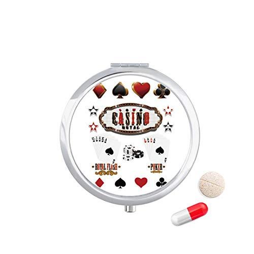 DIYthinker Gokken Gebruiksvoorwerpen Patroon Speelkaarten Reizen Pocket Pill Case Medicine Drug Opbergdoos Dispenser Spiegel Gift