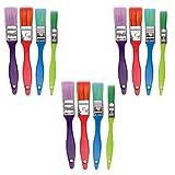 EXCEART 3 Sets Pinceles para Niños Pinceles Planos de Nylon Pinceles Pinceles de Aceite Pinceles de Arte para Acrílico Acuarela Pintura Al Óleo