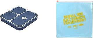 シービージャパン 弁当箱 クリアネイビー 薄型 フードマン 800ml DSK & ランチバッグ クリアブルー 薄型弁当箱 フードマン 専用 ジップケース DSK【セット買い】