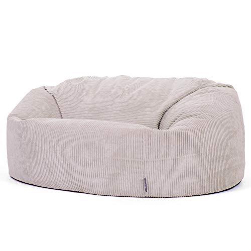 """Icon Sitzsack in Sofaform """"Soul"""", Stein, Riesige 2-Sitzer Sitzsäcke für das Wohnzimmer, Extra groß, Jumbo-Cord"""