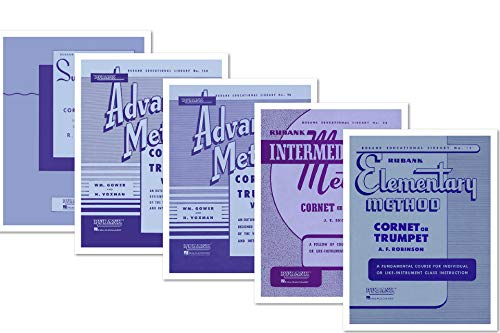commercial A complete set of books on Rubank's cornet or trumpet techniques (5 books) – Beginner Method, Intermediate Level… rubank intermediate cornet or trumpet