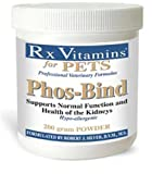Rx Vitamins for Pets Phos-Bind for Dogs & Cats - Supports Normal Function & Health of Kidneys - Hypoallergenic - 200g Powder
