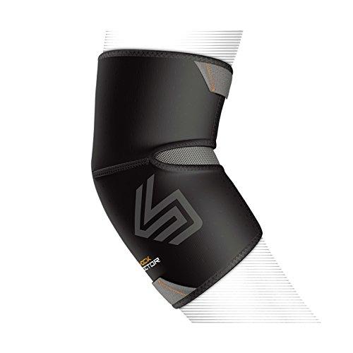 ShockDoctor Erwachsene Ellbogenschützer Ellbogen Kompressionsbandage Bandage, Black, S