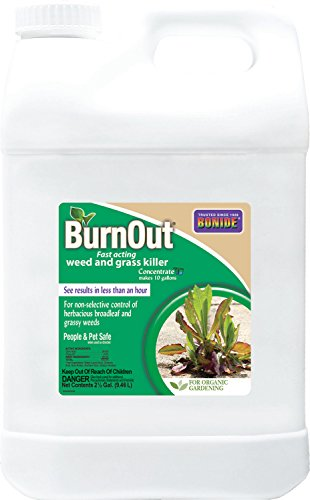 (BND) - Burnout Concentrate, Fast Acting Weed and Grass Killer (2.5 gal.) - Bonide 7466
